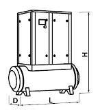 Габариты компрессора с ресивером